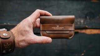 Making a HANDMADE Leather Flap Wallet - HYPER ASMR!