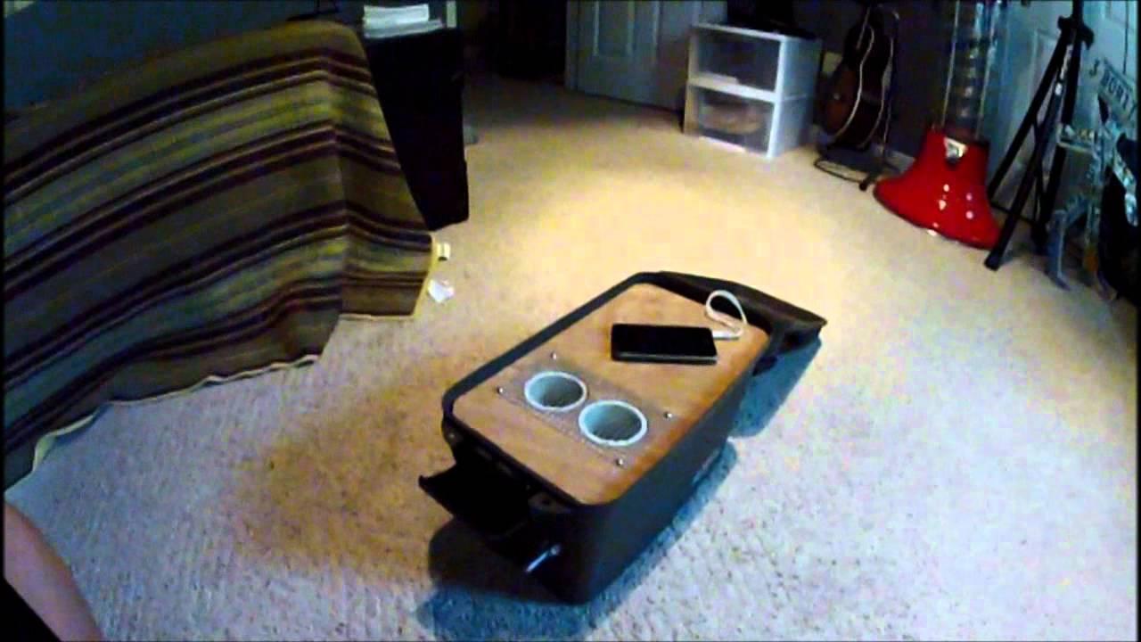 Homemade 12v waterproof battery box youtube for Ice fishing battery box