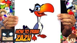 How to Draw Zazu   The Lion King   Step by Step Tutorial