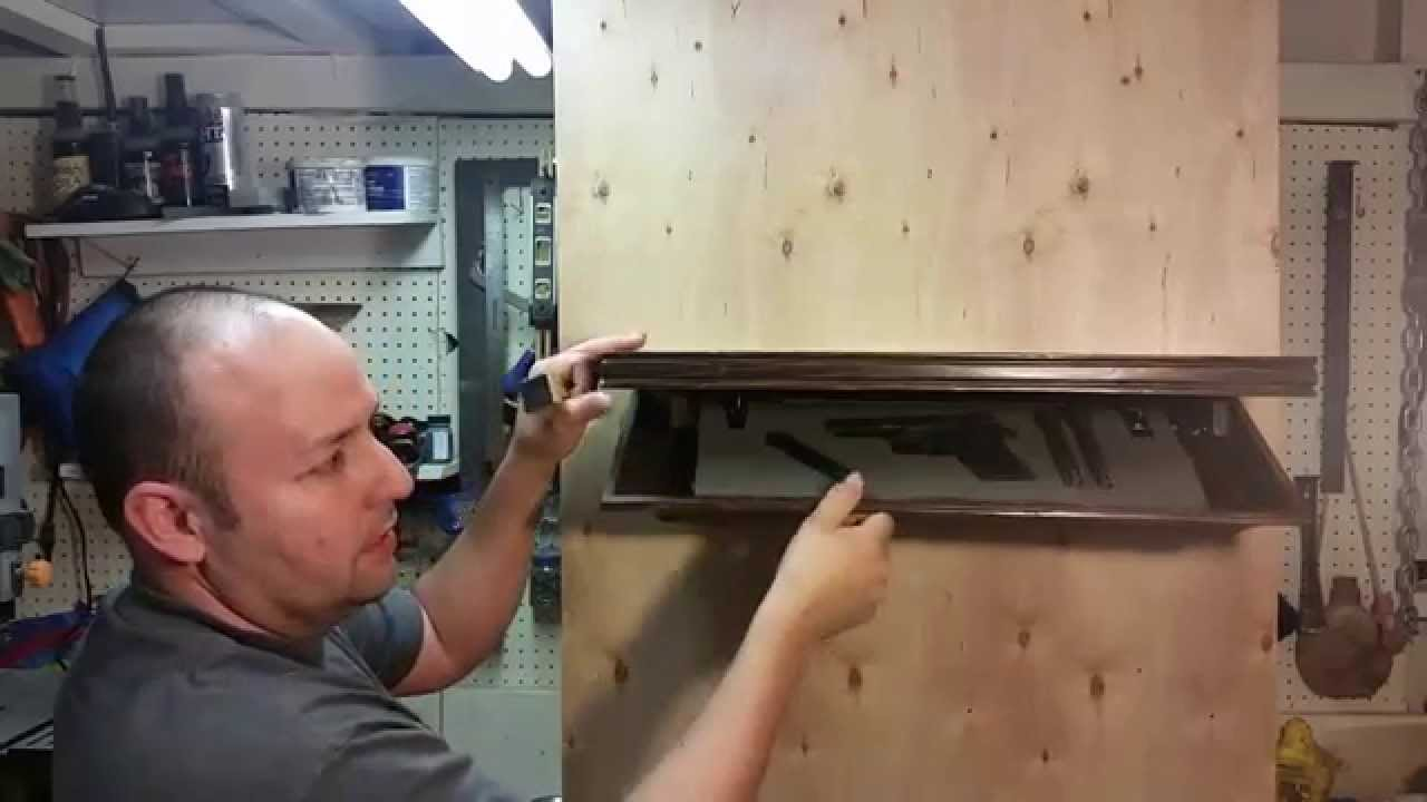 How To Make A Shelf With A Hidden Compartment Youtube