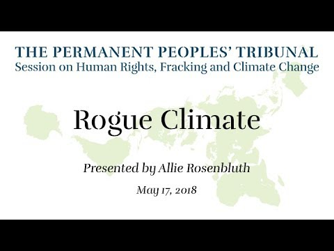 Rogue Climate: Permanent Peoples' Tribunal