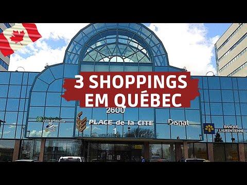 SHOPPINGS EM QUÉBEC (Ste Foy, Place de La Cité e Laurier)