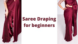 Nivi Drape How To Wear Saree For Beginners Easy Saree Draping Tutorial Tia Bhuva