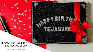 How to make Scrapbook step by step 🎁 | Handmade by creativepiu| Diy | Gifts for Loved One
