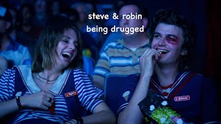 steve & robin being drugged for 4 minutes straight
