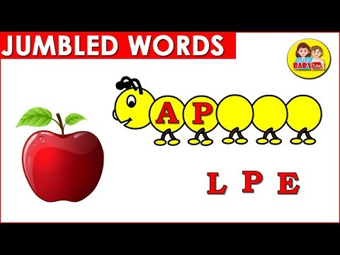 Jumbled Words for Kids Part # 01| Phonic Words for Kindergarten | Learn Alphabet