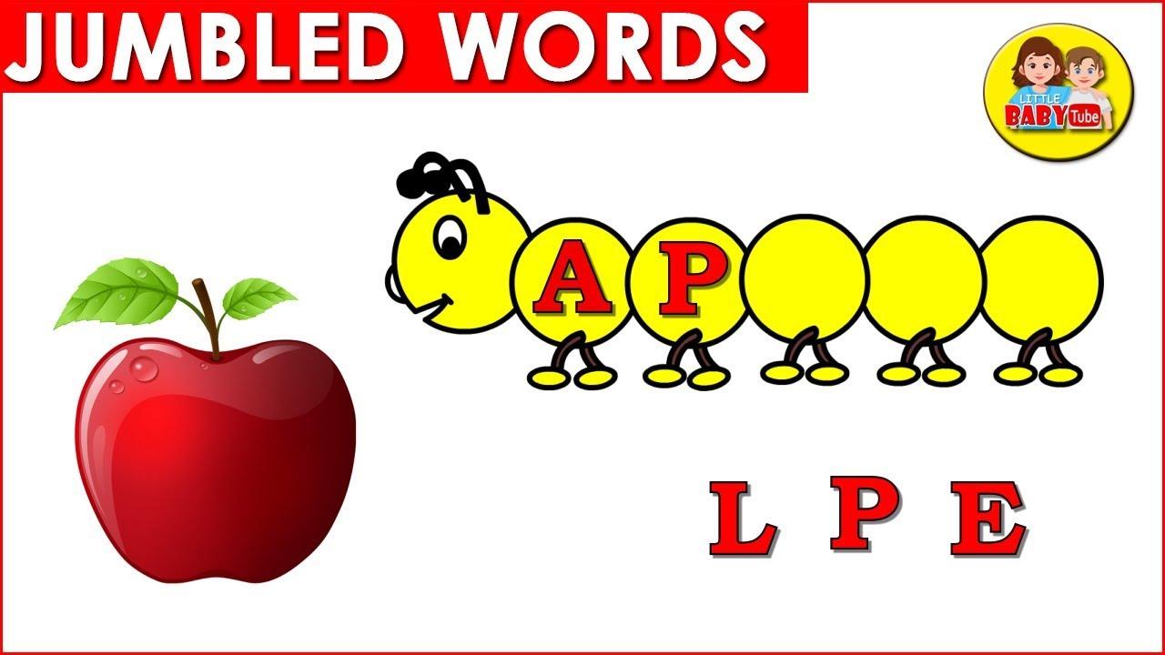 Download Jumbled Words for Kids Part # 01| Phonic Words for Kindergarten | Learn Alphabet