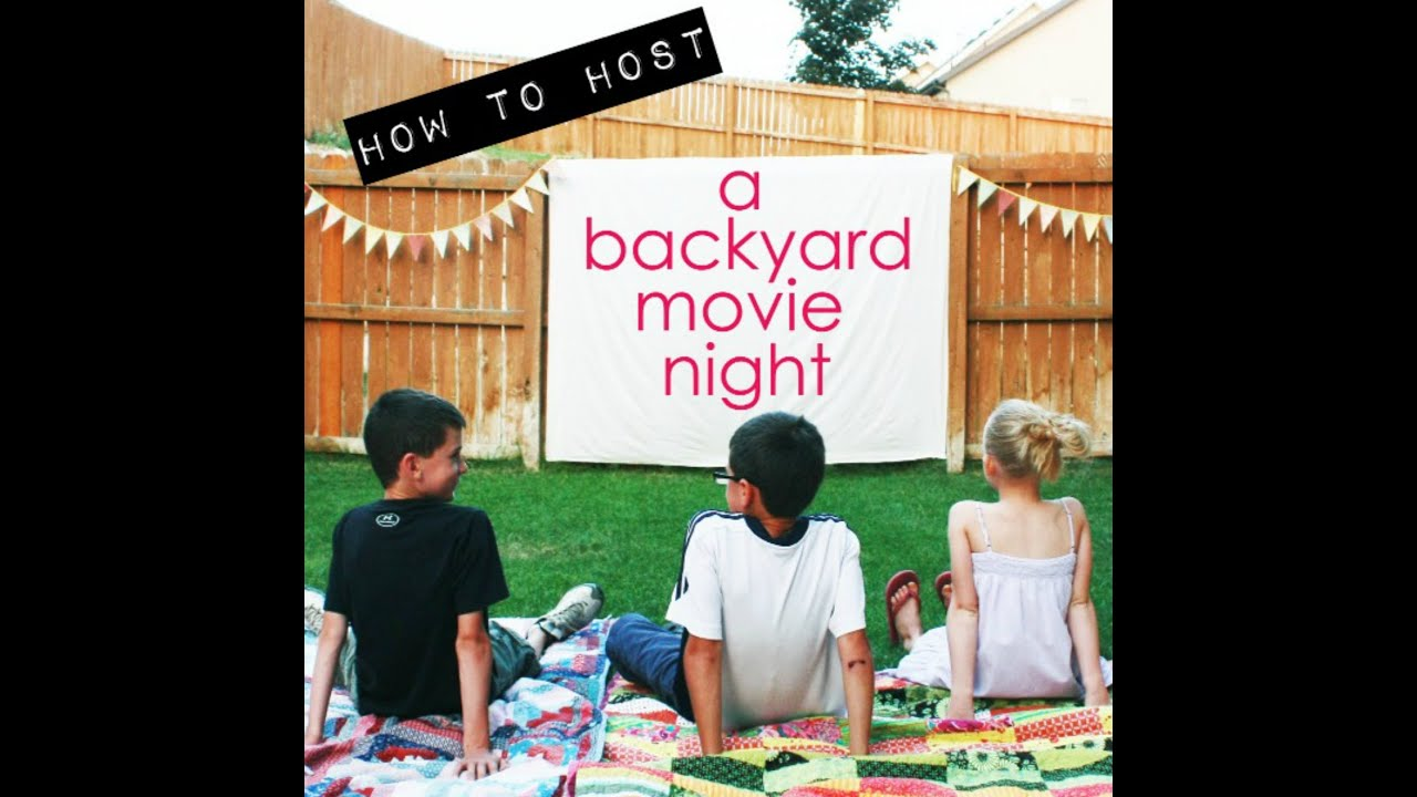 diy backyard movie night youtube