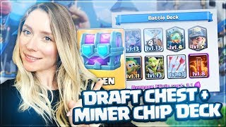 Clash Royale Draft Chest Opening// Legendary from Draft Chest// 3.1 Miner Cycle Deck