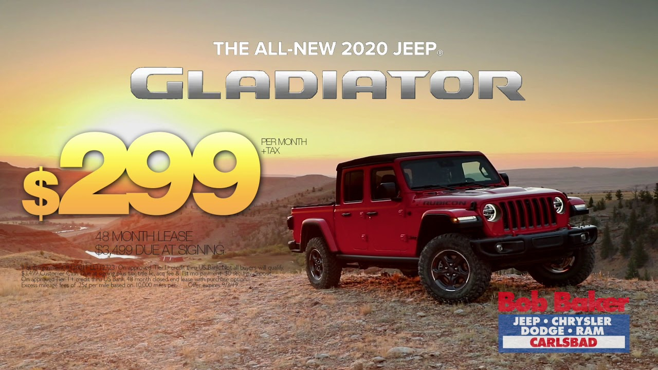 Bob Baker Jeep >> Bob Baker Jeep 2020 Jeep Gladiator Sport Lease Offer