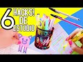 6 HACKS / DIY - Estudio y organización!!
