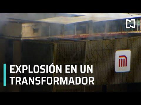 Incendio en el Metro, CDMX | Explosión de transformador provocó incendio - Las Noticias