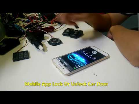 cardot 2018 bluetooth pke auto central lock gsm gps car alarm system