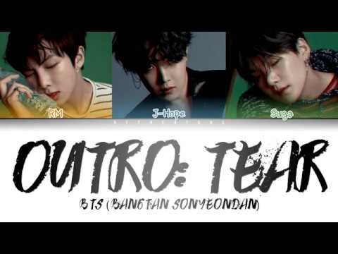BTS (방탄소년단) - OUTRO: TEAR (Color Coded Lyrics/Han/Rom/Eng)