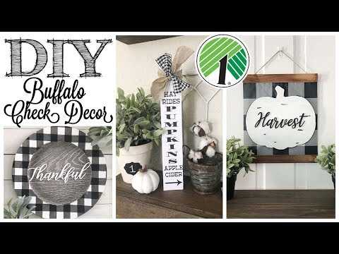 DIY Dollar Tree Fall Decor | 3 BUFFALO CHECK PROJECTS!