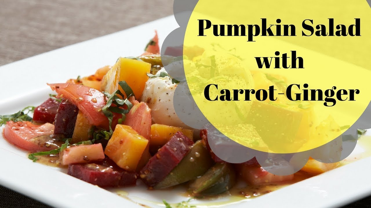 Beet and Pumpkin Salad with Carrot-Ginger Dressing