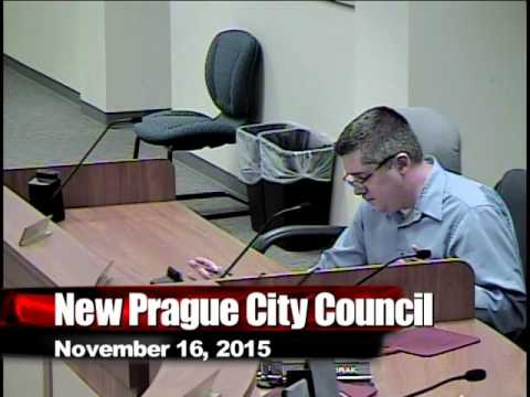 New Prague City Council November 16, 2015