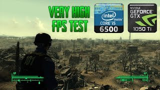 Fallout 3 Max Settings FPS Test (1050Ti + i5-6500)