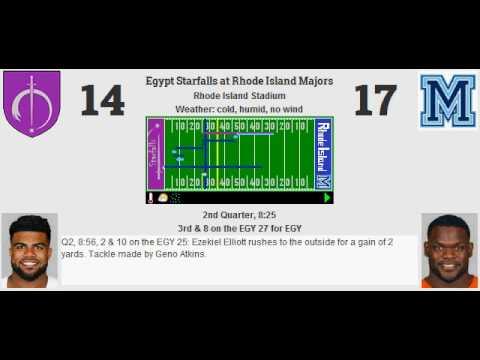 Week 13: Egypt Starfalls (6-6) @ Rhode Island Majors (4-8)