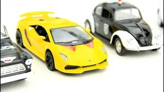 Toy Cars for children: Police Car & Sports cars & Police tow truck Video for kids