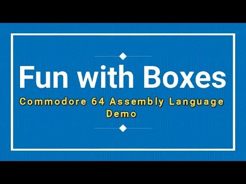 Fun with Boxes Commodore 64 Assembly Language demo