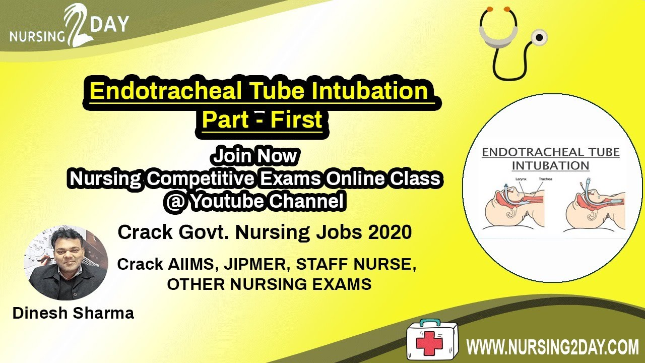 Topic Endotracheal Tube Intubation Part First Online - Online Classes Youtube
