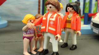 Unfall im Aquapark Playmobil Film seratus1 deutsch Schwimmbad stop motion