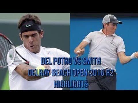 Juan Martin del Potro Vs John Patrick Smith Delray Beach Open R2 (Highlights HD)