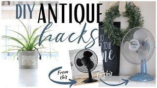 DIY Antique Hacks ~ Vintage Home Decor ~ DIY Vintage Decorations ~ Painted Glass
