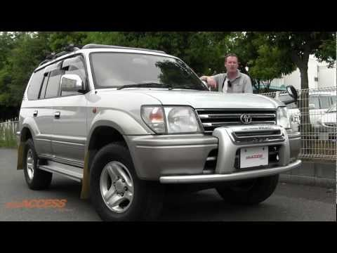 1999 Toyota Land Cruiser Prado Sunroof, 87K Klms - for sale direct from Japan