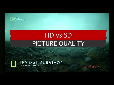 SD vs HD picture - explained through DishTV Set Top Box