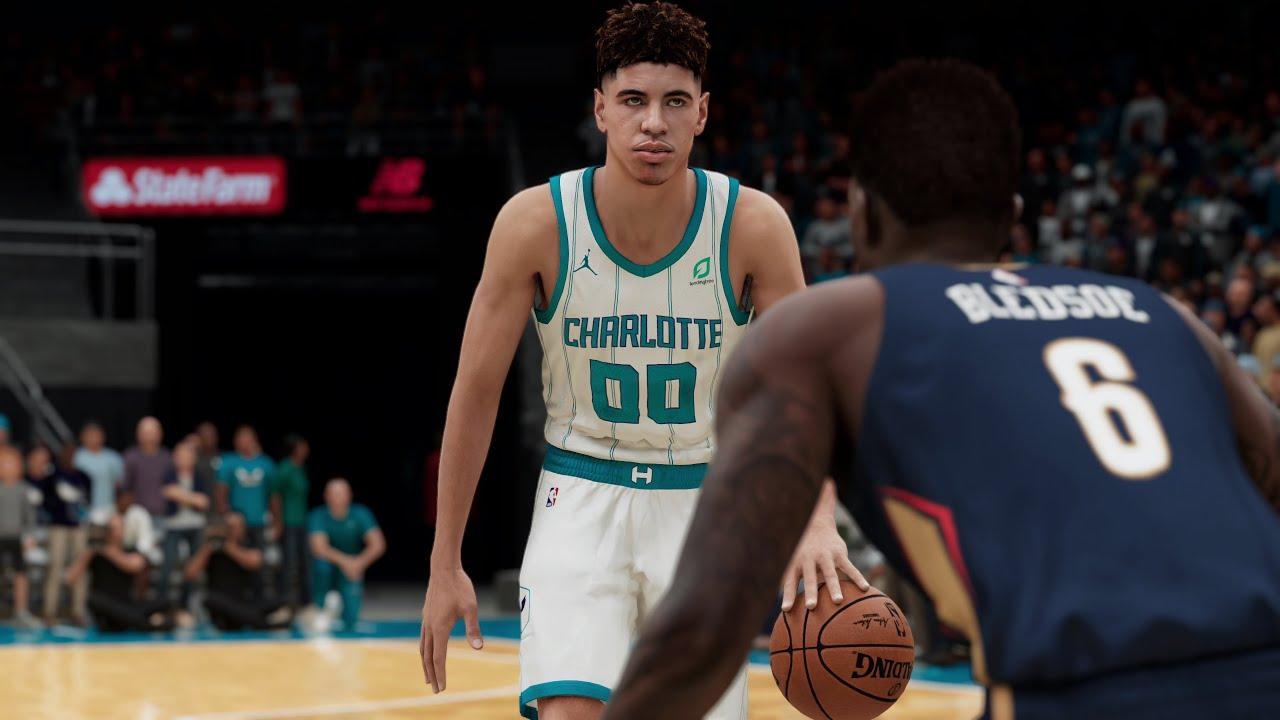 Nba 2k21 Ps5 Charlotte Hornets Vs New Orleans Pelicans Lamelo Ball Vs Lonzo Ball 4k 60fps Youtube