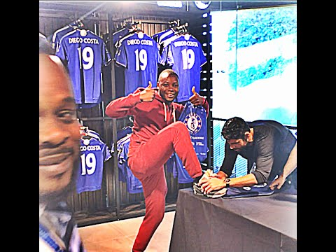 Diego Costa rejects Oscar shirt, shows his funny side at Chelsea signing session