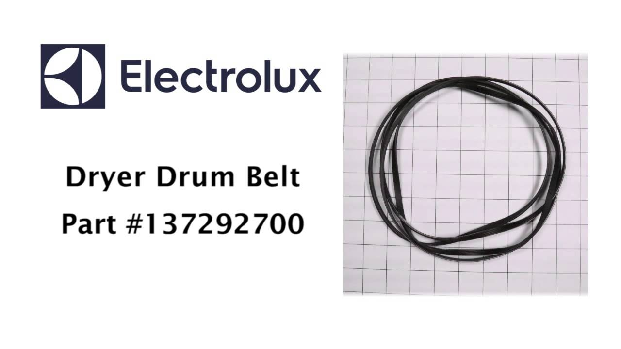 electrolux dryer drum belt part number 137292700 [ 1280 x 720 Pixel ]