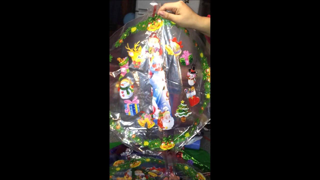 Tutorial adornar con globos para navidad decoracion como for Adornar puertas para navidad