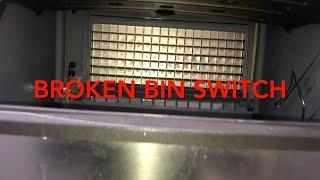 broken bin switch on manitowoc ice machine