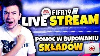 ???? Pomoc w BUDOWANIU SKŁADÓW!   FIFA 19 Stream - Na żywo