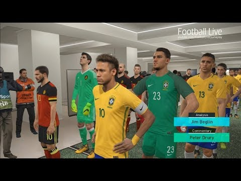 PES 2018 | BRAZIL vs BELGIUM | 1/4 Final FIFA World Cup 2018 Russia | Gameplay PC