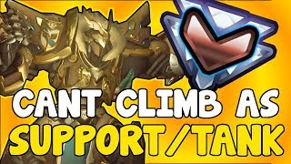 Why It Feels IMPOSSIBLE To Climb As A TANK / SUPPORT MAIN | Overwatch Competitive