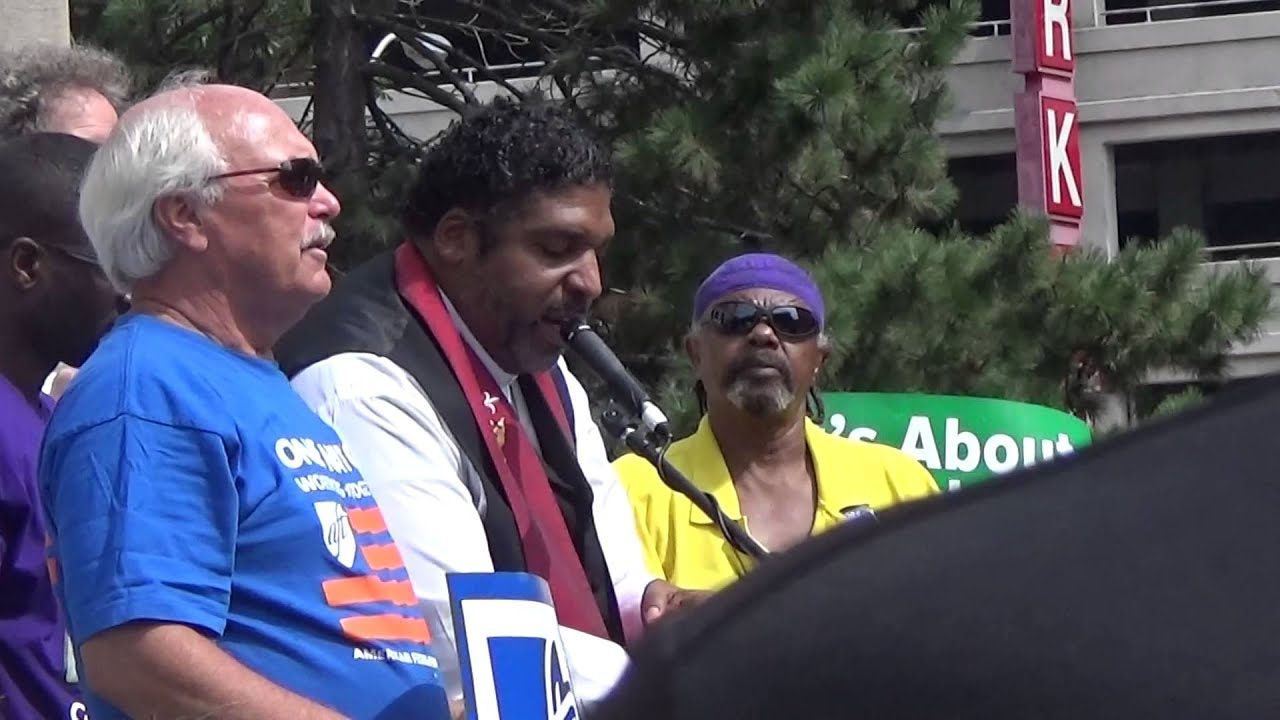Rev. Dr. Barber Addresses the Indiana Moral Mondays Statehouse Crowd, Indianapolis, Sept. 20, 2014