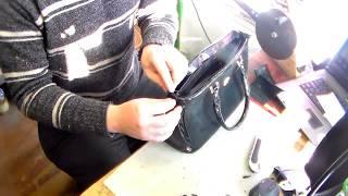 Облез торец на сумки (ремонт сумок в Запорожье)