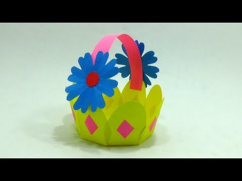 How To Make a Paper Made Basket for Flowers & Fruits - Beautiful Flowerish Paper Basket
