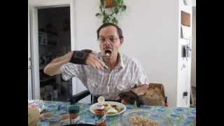 18 - Quadriplegic eating with special utensils