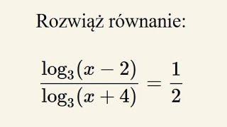 Równanie logarytmiczne - przykład