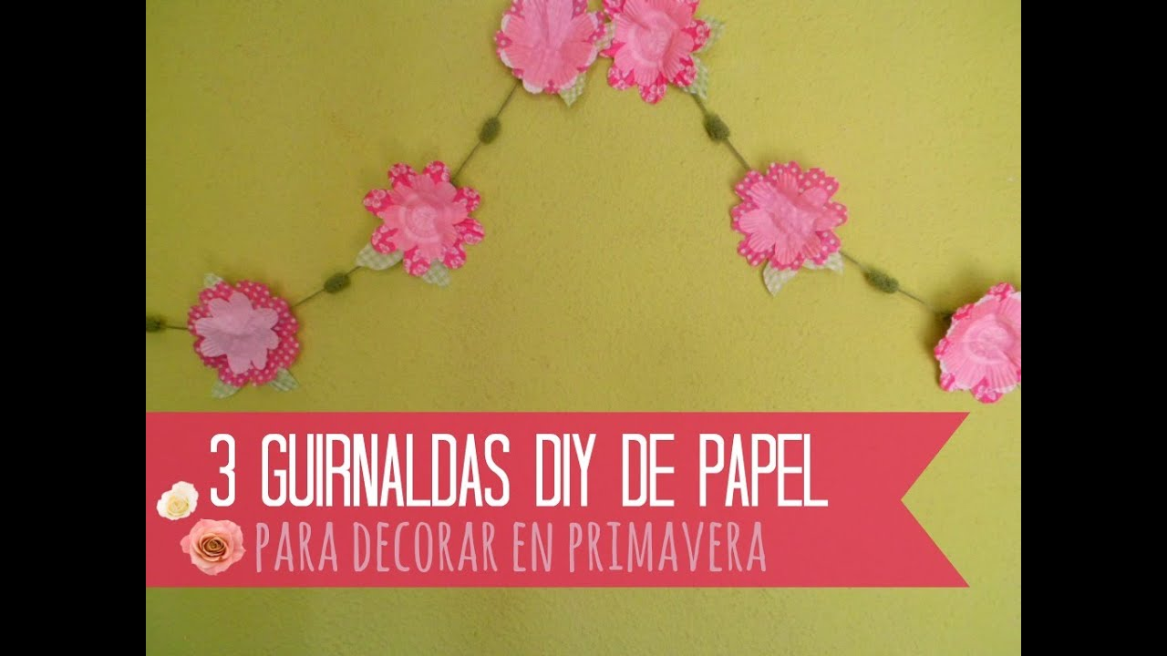 Manualidades 3 ideas diy banderines y guirnaldas para for Decoracion primavera manualidades