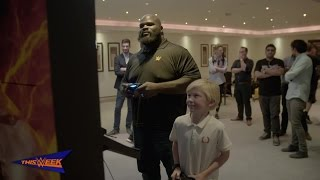 Mark Henry plays WWE 2K17 in Dubai