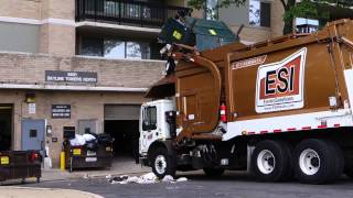 Garbage truck FAIL unloading Compactor Dumpster