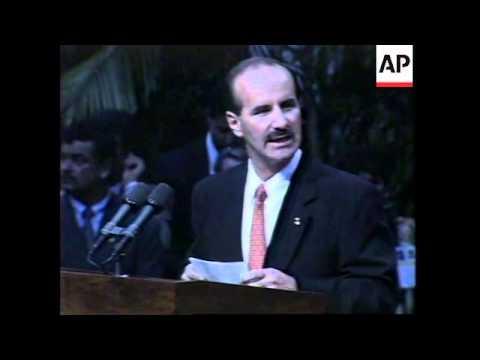 COSTA RICO: US PRESIDENT BILL CLINTON VISIT