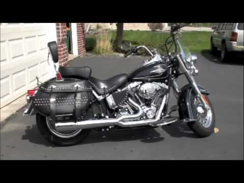 HD Softail Exhaust Comparison - stock vs Vance & Hines