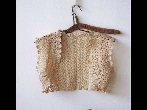 Crochet Shrug How To Crochet Vest Shrug Free Pattern Tutorial For